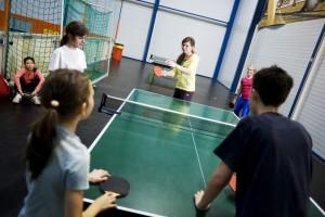 Tischtennis, Streetsoccer, Basketball und noch viele andere Sportarten zum Ausprobieren!
