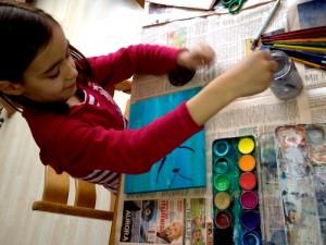 Weil alle kleinen Kinder noch gerne malen und große KünstlerInnen sind.