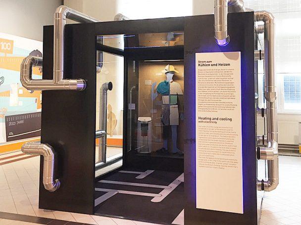 Ausstellung On/Off. Technisches Museum Wien. Besuch. Kühlen und Heizen. Wie funktioniert das? Kühlanlagen. Heizgeneratoren.