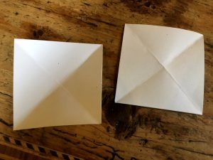 Papier-Sterne falten 1.