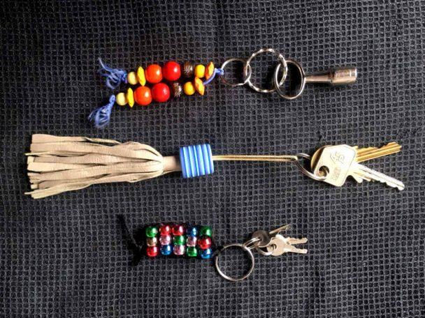 Schlüsselanhägner aus Perlen