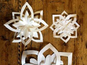 Papier-Sterne falten ist echt schön