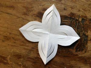 Papier-Sterne falten Halbzeit