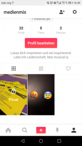 Private Videos bei musical.ly erstellen