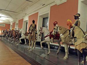 Weltmuseum Wien, Besuch, Pferde, Geschmückt, Ausstellungsbereich