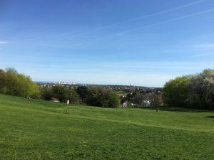 Blick vom Spielplatz Roter Berg West