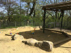 Sandkiste am Spielplatz Roter Berg Ost