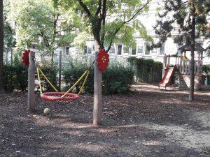Korbschaukel am Spielplatz Loquaiplatz im blog.kinderinfowien.at