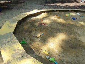 Sandkiste am Spielplatz Loquaiplatz im blog.kinderinfowien.at