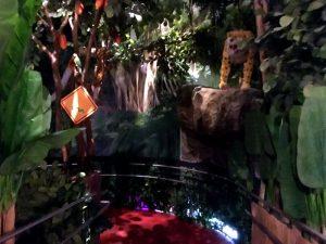 Die Rampe im Chocolate Museum Vienna in den Keller hinunter